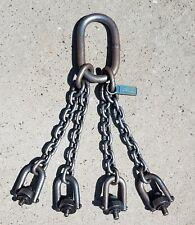 Cm Herc Alloy 800 38 Grade 80 4 Branch Chain Sling Hoist Heavy Duty Lift Tool