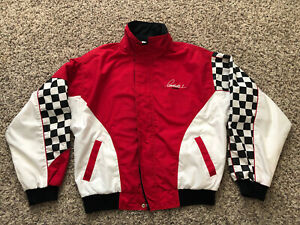 Vintage Mario Andretti Racing Formula One F1 Indy Car Large Jacket VTG