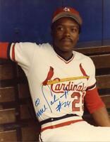 Vince Coleman Autographed Signed 8x10 Photo ( Cardinals ) REPRINT