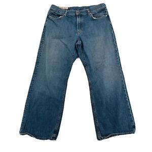 Gap Mens 100% Cotton Medium Wash Loose Fit Straight Leg Blue Denim Jeans 36/30