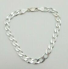 "grams 1/4"" wide 8"" long Sterling Silver Bracelet Curb link 10.8"