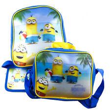 Taschen Kindergarten 3er Set Minions 3D Rucksack Umhängetasche Brustbeutel 3-tei