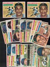 1956 TOPPS BASEBALL LOT X 37 ASST CARDS