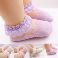 Baby Girls Kids Socks Cotton Lace Breathable TUTU Socks Frilly Ankle Socks 0-5Y