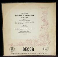Stravinsky Le Sacre du printemps Ansermet Suisse romande LXT 2563 LP & CV EX
