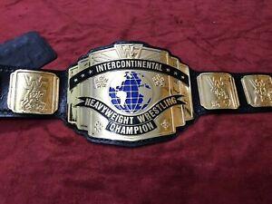 WWF INTERCONTINENTAL CHAMPIONSHIP BELT 4MM ZINC DEEP ETCHING & GOLD PLATED