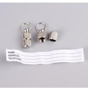 Dog Cat Storage Tube Anti Lost Address Pet Name Address Id Tag Mini Metal Collar