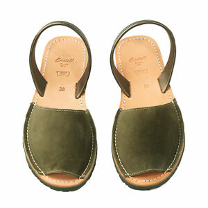 Original Handmade Spanish Summer Leather Avarca Sandal - Khaki