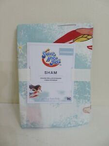 POTTERY BARN KIDS DC SUPER HERO GIRLS STANDARD SIZE PILLOW SHAM NEW