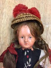 antikes Püppchen mit Gutacher Tracht Schwarzwald - Puppe