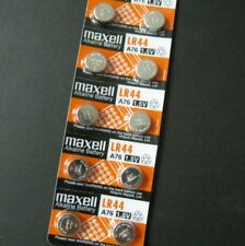 10 x FRESH LR44 Maxell A76 Button Cell Coin 1.5V Alkaline Battery 10 Pcs/Pk #gtc