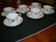 VINTAGE FURSTENBERG PORCELAIN CHINA DEMITASSE TEA CUPS & SAUCER 12 PC GERMANY