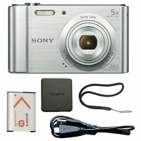 Sony Cyber-shot DSC-W800 20.1MP Digital Camera 5x Optical Zoom Silver Brand New!