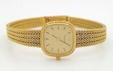 VINTAGE TISSOT LE LOCLE 18K YELLOW GOLD DIAMOND SWISS SQUARE ANALOG LADIES WATCH