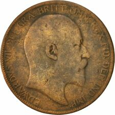 [#422932] Great Britain, Edward VII, Penny, 1902, VF(20-25), Bronze, KM:794.1
