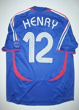 2006 Adidas France World Cup Thierry Henry Jersey Short Sleeve Shirt Jersey