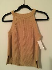 Madewell Yellow Sleeveless Knit Sweater Size XS
