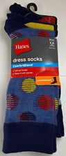 Hanes Men's Multi Color Lightweight Dress Socks Shoe Size 6-12 (3-Pairs) NEW!!
