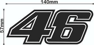 2 x ROSSI 46 decal graphic sticker bike valentino 140mm x 57mm