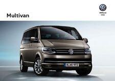 2018 MY Volkswagen Vw Multivan 11 / 2017 catalogue brochure Czech Tcheque