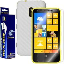 ArmorSuit MilitaryShield Nokia Lumia 620 Screen Protector + White Carbon Skin