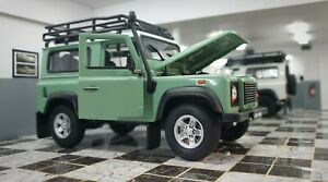 WELLY LAND ROVER DEFENDER GREEN ROOF RACK SNORKEL 1/24 SCALE CAR DIECAST MODEL