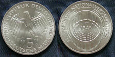 MONETA COIN GERMANIA GERMANY DEUTSCHLAND 5 MARKS 1973 (G) FRANKFURTER - ARGENTO