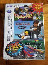 new SEGA SATURN Sealed VIRTUA FIGHTER 2 Virtua Cop DAYTONA USA Disc 3 Games in 1