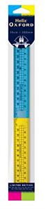 Helix Oxford Clash 30cm Folding Ruler - Blue