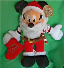 DISNEY WORLD MICKEY SANTA CHRISTMAS PLUSH COLLECTIBLE TOY HAPPY HOLIDAYS MICKEY
