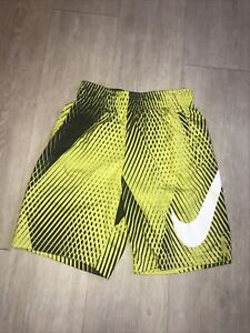 Nike Dri Fit M medum boys bright yellow / black athletic shorts.
