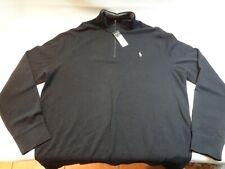 Polo Ralph Lauren Mens Jersey Half-zip Pullover Polo Black L New Nwt