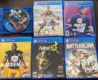 PS4 Sports Games Lot of 6 Games Bundle Madden NBA NHL  Super Pack Very good