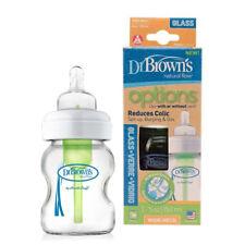 Dr Brown's 150ml Botella de bebé de vidrio opciones de cuello ancho