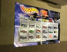 RARE 2003 HOT WHEELS FACTORY POSTER WITH  Blings, 'Tooned, Crooze, Fatbax