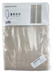 """Ikea ANNALOUISA Curtains 1 Pair Beige 57"""" x 98"""""""