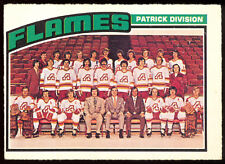 1976-77 OPC O PEE CHEE HOCKEY #132 ATLANTA FLAMES TEAM UNMARKED EX-NM CARD