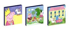 "PEPPA PIG PRINCESS 10"" x 10"" CANVAS PICTURE SET"