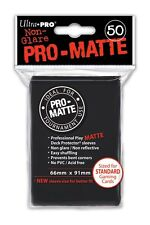 50 Ultra Pro-Matte Black Deck Protector Sleeves MTG Magic The Gathering