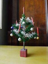 Vintage: Albero di Natale anni '30 in piume di gallina con decorazioni originali