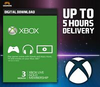 XBOX LIVE 3-MONTH GOLD SUBSCRIPTION CARD [XBOX] 🎮🔑