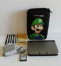 Nintendo 3DS XL, Genuine LUIGI CASE, Genuine CHARGER, AR CARDS, STYLUS, MEM.CARD