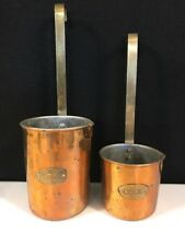 Vintage Copper Measuring Cups 075L & 050L Made In India