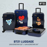 BTS BT21 Official Authentic Goods Luggage Universtar Ver 20in or 24in + Express