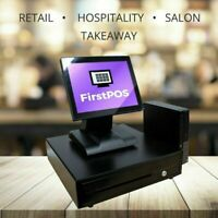 FirstPOS 12in Touch Screen POS Cash Register Till System Coffee Shops/ Cafes
