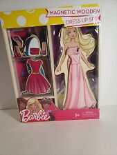 Barbie Magnetic Wooden Dress-Up Set with Free Shipping!