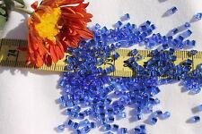 8/0 Triangle Toho Glass Seed Beads 18-Silver Lined Sapphire/ 28 grams # 35