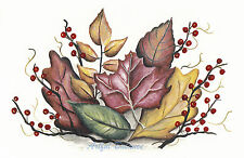 Ceramic Decals Fall Autumn Leaves Leaf Pip Berries Berry