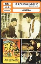 LA BLONDE DU FAR-WEST - Doris Day (Fiche Cinéma) 1953 - Calamity Jane