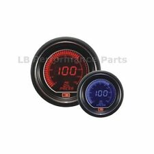 60mm Stealth Blue / Red LCD Digital Oil Pressure Gauge For Evo Subaru Nissan